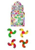 12 mini finger spinner per bambini, da festa, per riempire la pignatta. Materiale: plastica.