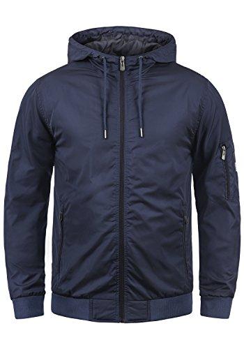 Blend Razy Herren Übergangsjacke Herrenjacke Jacke mit Kapuze, Größe:L, Farbe:Mood Indigo (74648)
