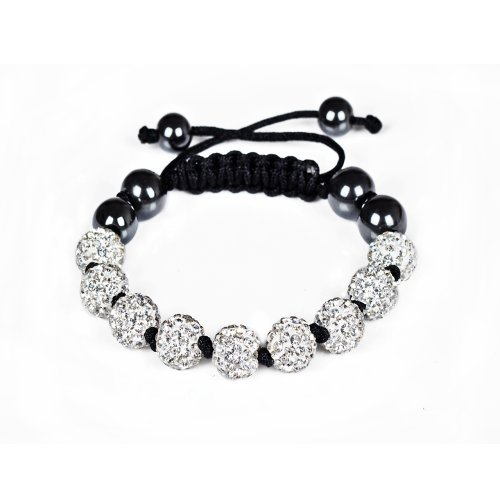 Blanc-nouvelle-collectionNew-Style-de-bonne-qualit-pour-une-couleur-9-Balles-Bracelet-Shamballaboule-disco-argile-serties-de-cristalperles-Shamballa-Bracelet