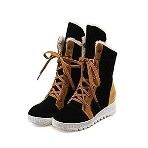 FMWLST Stiefel Damen Stiefel Runden Kopf Schneeschuhe Mit Frauen Winter Warm Rutschfeste Stiefel