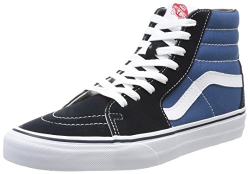 Vans U Sk8 Hi - Baskets Mode Mixte Adulte - Bleu (Navy) - 44 EU (Taille Fabricant : 10.5 US)