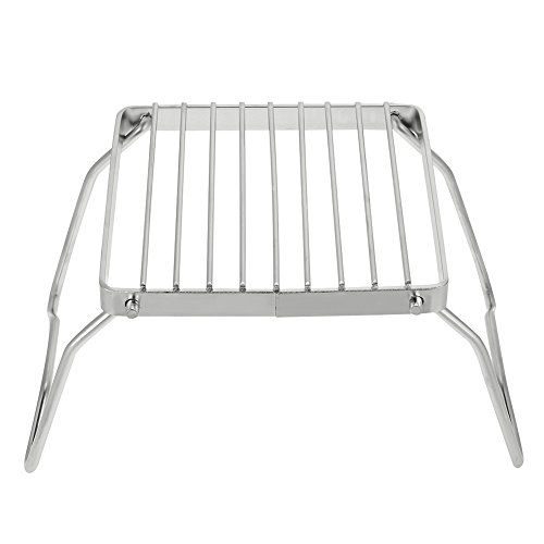Portable Grillrost (Portable Barbecue Rack, Outdoor Faltbare Edelstahl Barbecue Grill Holzkohle Rack für BBQ Picknick)