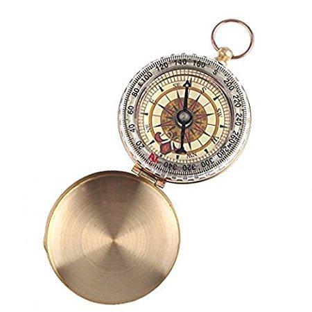 Klassische Vintage-Taschenuhr aus Metall, Gold und Bronze