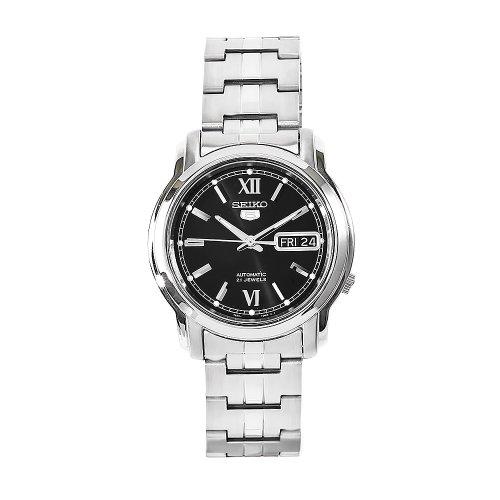 Seiko Herren-Armbanduhr XL Analog Automatik Edelstahl SNKK81K1