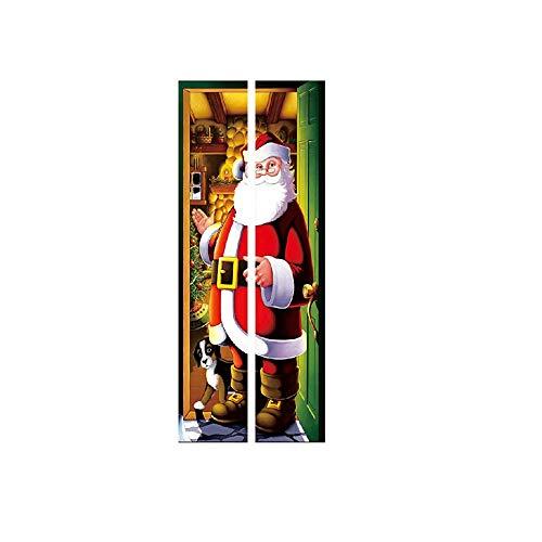 ODJOY-FAN Weihnachten Dekoration Türaufkleber Wandaufkleber Entfernbar Tür Aufkleber Wandgemälde Wand Aufkleber Weihnachten Zuhause Abziehbild (38,5 x 200 cm)(C,1 PC)