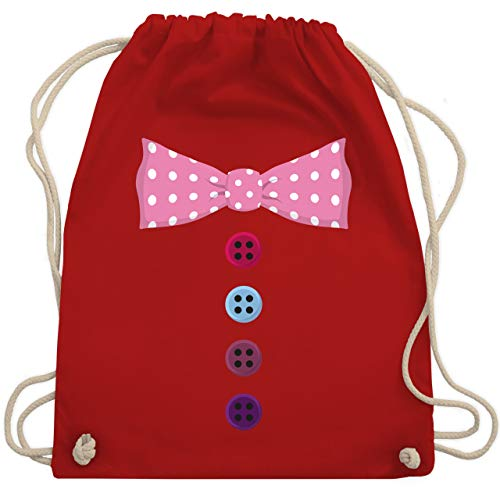 Karneval & Fasching - Clown Kostüm rosa Fliege - Unisize - Rot - WM110 - Turnbeutel & Gym Bag