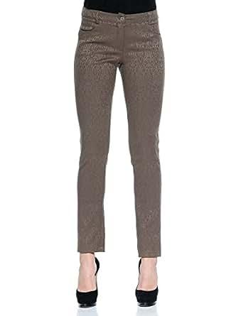 L'Officina Della Moda - Pantalon - Femme Marron marron L