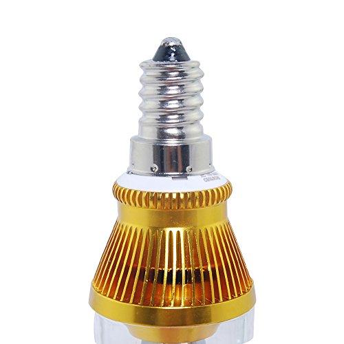 THG ahorro de energ¨ªa E14 6W 100-240V fresca Bombilla Blanca Inicio Vela LED luz de la l¨¢mpara 130LM (Pack de 6)