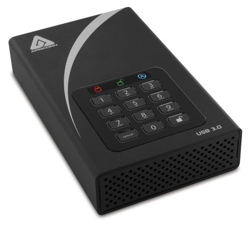 Apricorn ADT-3PL256-2000 2TB External Hard Disk Black Price in India