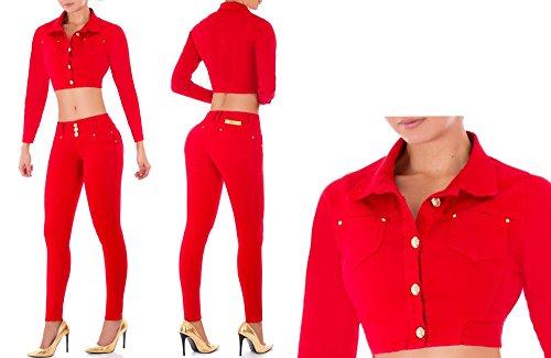 2 pezzi Set Jeans & Giacca / Bel set di pantaloni - jeans e giacca di jeans / Jeans Push Up Skinny