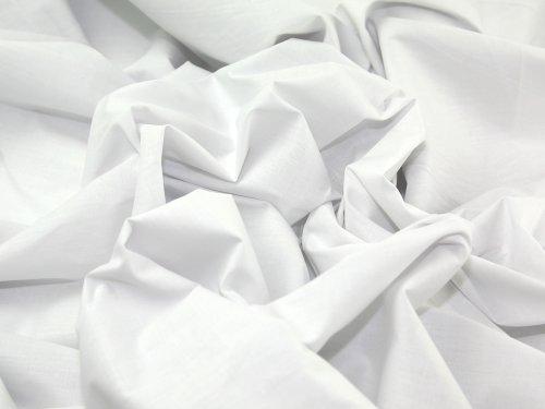 OD - Tela de sábana fabricada en algodón y poliéster (239 cm, precio por metro), color blanco