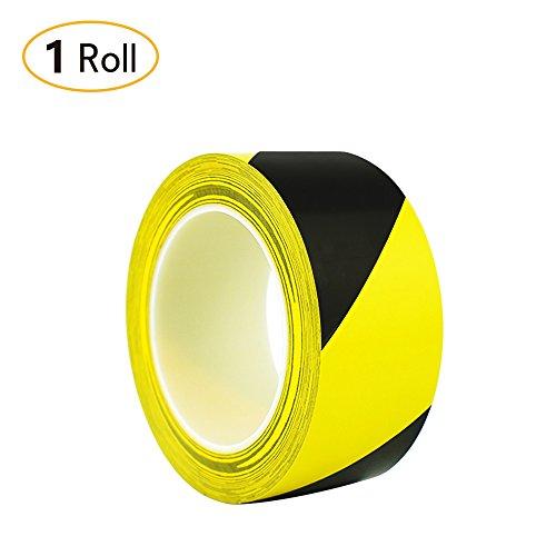 Jia HU Farben Vinyl gestreift Tape Boden ins Tapes Sicherheit Markieren Set für Teppich Outdoor-elektrische Büro 3cm * 36yd Schwarz/Gelb
