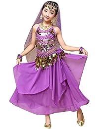 Sannysis Traje de Danza Danza del Vientre Traje de Baile de la India, Tops y