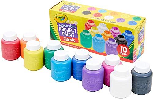 Crayola I Lavabilissimi Tempere Lavabili Barattolini Richiudibili Pronte allUso per Scuola e Tempo Libero Colori Assortiti 10 Pezzi 54 1205