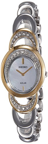 Seiko Solar Analog Mother of Pearl Dial Women's Watch - SUP296P1