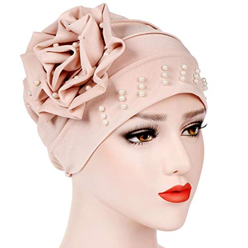 (Amphia Damen Elegante Einfarbig Chemo Kopfbedeckung Bandana Turban Kopftuch für Chemotherapie, Krebs, Haarverlust)