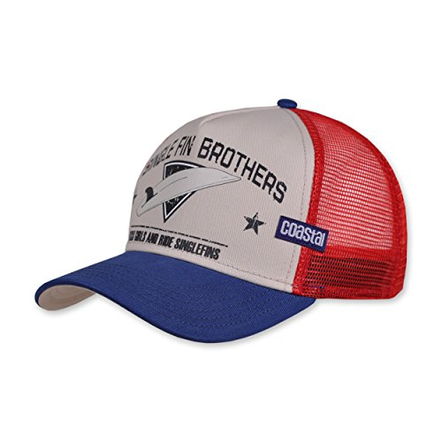 COASTAL - Single Fin Brothers (white) - High Fitted Trucker Cap