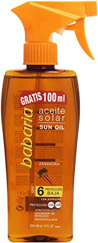 babaria Bräunungsöl-Spray Karotte LSF 6 300 ml