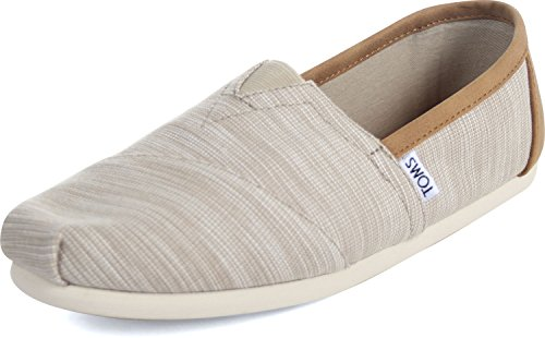 TOMS Men's Classic Chambray Oxford Tan Trim Ankle-High Canvas Flat Shoe - 9.5M