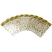 Heku 22-30533 Bodenbeutel Sterne mit Bodenfalte, 100 Stück, 23,5 x 14,5 x 5 cm, PP