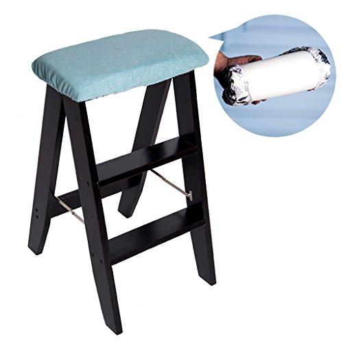 LIU UK Folding Chair Massivholz Tritthocker Multifunktions Haushalt Innen Küche Kreativität Klappstühle Barhocker Hocker Erwachsene Tragbare Hocker (Farbe : D, größe : 34 * 44 * 61cm)