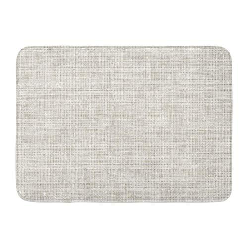 LIS HOME Fußmatten Bad Teppiche Outdoor/Indoor Fußmatte grau gewebte Leinwand abstrakte Mesh-Muster Gaze Elfenbein Teppich Badezimmer Dekor Teppich Badematte -