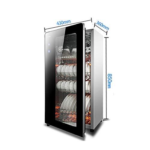 MXRqndqa Wärmegeräte Vertikale kleine Mini-Desinfektionsschrank für Haushalt, schwarzer Minischrank aus Edelstahl, Desinfektionsschrank für Spannung 220V (Farbe : Four-Story)