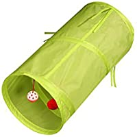 fghfhfgjdfj Pet Supplies Pet Cat Tunnel 2 Way Kitten Rabbit Play Tube Toy Paper Tunnel Foldable Cat Tunnel Cat Toy Drill Bucket