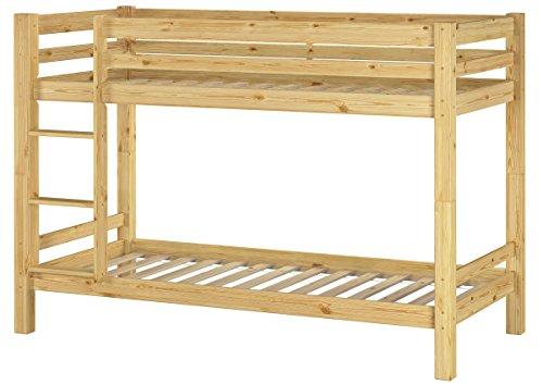 Erst-Holz® Stockbett Etagenbett Kinderzimmer Kiefer + Rollrost 90x200 Hochbett Kinderbett 60.09-09
