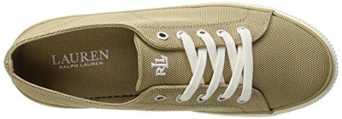 Lauren Ralph Lauren Jolie Fashion Sneaker Khaki Pique Nylon