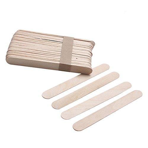 Cosanter Holzspatel Holzmundspatel Bastelspatel aus Holz, 10 Stück, Einweg