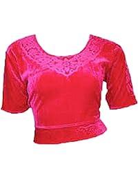 Pink Choli (Sari Oberteil) Samt Gr. 38 / 40 Gr. M ideal für Bauchtanz