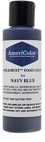 AMERIMIST NAVY BLUE AIRBRUSH COLOR 4.5 OZ Cake Decorating Color