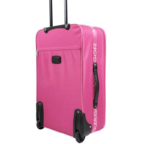 5 TLG. Trolleyset Kofferset Reisekoffer Handgepäck XXL, XL, L, M, S (Pink) - 5