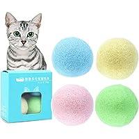 SongJX-Love Juguetes Elegantstunning 4pcs / Set de Fieltro de Colores Juguetes Pelota for Gatos Gatitos Campana Ingenio GZZXW