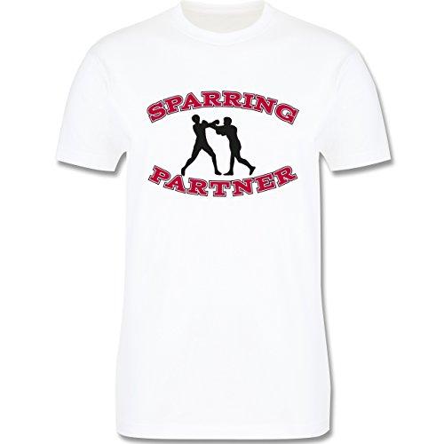 Kampfsport - Boxer - Herren Premium T-Shirt Weiß