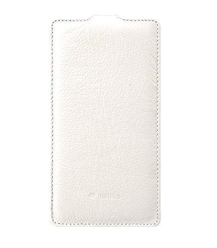 Melkco Jacka type Ledertasche für Apple iPhone 6 schwarz Weiß LC 3