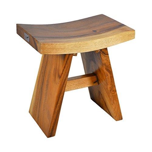 DIVERO Hocker Suar Holz Sitzhocker Holzhocker massiv, reine Handarbeit