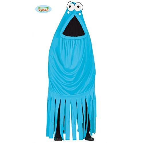 Blaues Monster Kostüm für Erwachsene Gr. M/L, (Kostüme Mumie Monster)