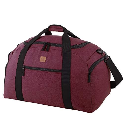 Rada Reisetasche Discover L 60 Liter Volumen, Wasserabweisende Sporttasche für Junge und Mädchen, Reisetasche und Businesstasche für Damen und Herren (Maße: 62x33,5x31,5cm) n (Bordeaux 2 Tone)