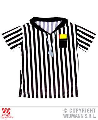 Schiedsrichter T-Shirt für Kinder 146/158 (11-13 Jahre) (Fußball Schiedsrichter Kostüm Kinder)