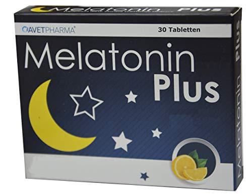Natürliches Melatonin Extrakt aus Montmorency Sauerkirsche, Melatonin 1mg plus Melisse Extrakt, 30 Lutschtabletten, Zitronengeschmack, zum einschlafen