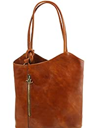 81414974 - TUSCANY LEATHER: PATTY - Sac en cuir convertible en sac à dos, miel