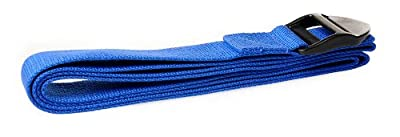 Trendy Yoga Gurt blau 190x4x0,1cm Fitness Stretch Gürtel Gymnastik Pilates