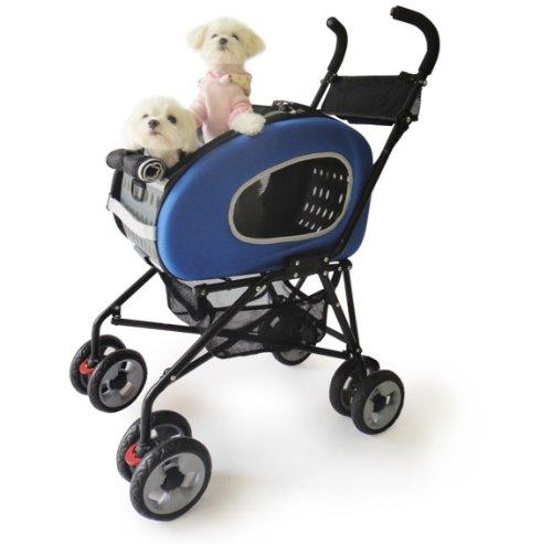 Artikelbild: Haustier-Buggy, ips-020/blau, Hunde-Tragetasche, Trolley, Trailer, InnoPet®, Playstation Pet Buggy. Zusammenklappbar Pet Buggy, Kinderwagen, Kinderwagen für Hunde und Katzen.