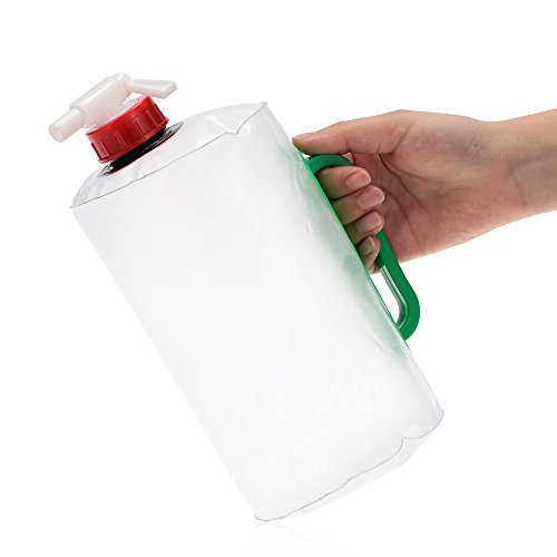 Docooler 2L Potabile Bottiglia Pieghevole per Campeggio Arrampicata Picnic Sopravvivenza Emergenza