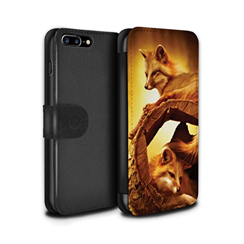 Officiel Elena Dudina Coque/Etui/Housse Cuir PU Case/Cover pour Apple iPhone 8 Plus / Oui Maman/Lion/Petit Design / Les Animaux Collection Jacinthe