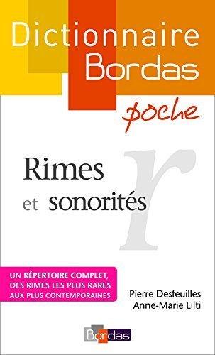 Dictionnaire poche des rimes et sonorits de Pierre Desfeuilles (11 mars 2008) Broch