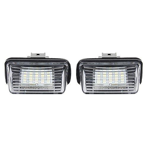 WEFIE LED Kennzeichenbeleutung Yaris Camry ASV50 Camry Hybrid Corolla Station Wagon Prius C Ractis Verso Avensis Kennzeichenleuchte (2011 Corolla Led)