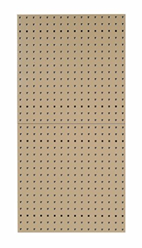 Triton Products LB1-T LocBoard Steel Square Hole Pegboards, 24-Inch x 24-Inch x 9/16-Inch, Tan -